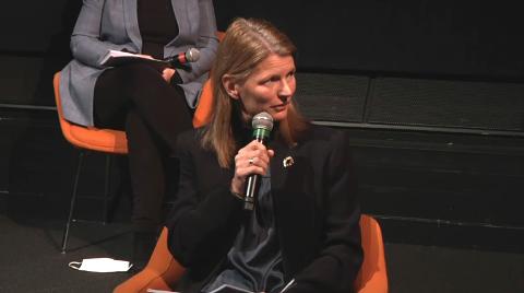 BÆREKRAFTIG: - Kun en demokratisk og bærekraftig markedsøkonomi, med riktig prising og utslipp, kan bidra til en klimavennlig omstilling, argumenterer ordfører i Asker Lene Conradi under Kantars debatt om klimaomstilling.