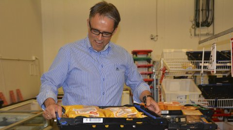 Vanskelig fjærfemarked: Fabrikkdirektør Olav Mansaas Bleie (51) forteller om stor nedgang i produksjon og salg av fjærfekjøtt. Men han understreker at pilen peker oppover nå.