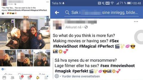 Den siste tiden har mannen i 30-årene lagt ut flere bilder av jenter i Porsgrunn, Skien og Kragerø. Nylig ble hans profil på Facebook slettet. Foto: Facebook