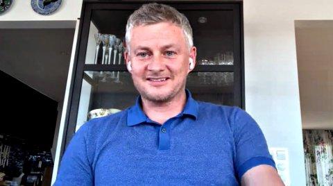 Ole Gunnar Solskjær mimret om CFK-tiden da han deltok over video i klubbens 100-årsmarkering tirsdag kveld. Manchester United-manageren er i innreisekarantene på Innlandet etter sesongslutt i England.