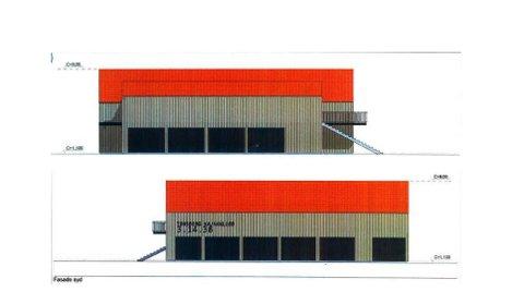 NYTT KLUBBHUS: Slik ser planene ut for Tønsberg Kajakk Klubbs nye lokaler. Her fasaden mot syd (under) og nord.