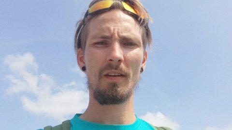 VAR PÅ JOBB: Niclas fra Sandefjord hjalp den eldre mannen i Åsgårdstrand.