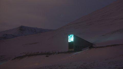 (bilde 07) LYSER: Frølageret er utsmykket med kunst som skinner på ulikt vis ut fra lysforholdene.  FOTO: Ivar Ekseth / NTB scanpix
