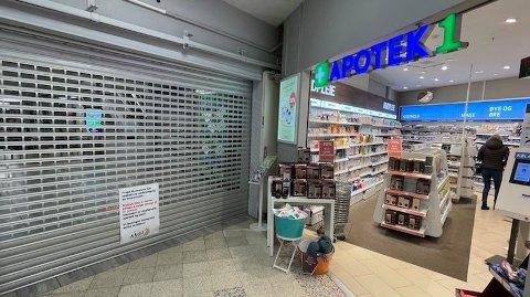 STENGTE NED: Slik så det ut da Drøbak City stengte ned 23. januar. Nå ber senterleder Ragnar Sørlie at butikkene forholder seg til regjeringens koronatiltak.