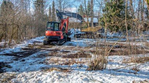BLIR BRAKKERIGG: Klosterløkka friområde blir brakkerigg for administrasjonen for utbyggingen av studentbyen i Skogveien noen år fremover, om ikke vedtaket fra formannskapet blir endret.