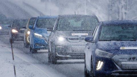 STOR NORSK TEST: Testen viser den faktiske rekkevidden, forbruket og ladehastigheten under norske vinterforhold. (Foto: NAF) Foto: (NAF)
