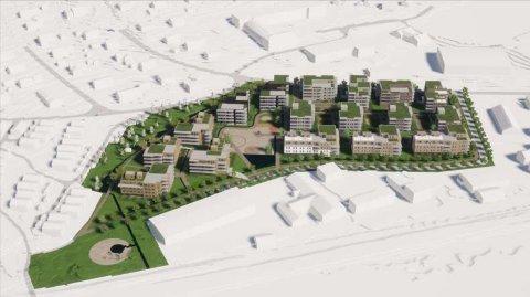 JUSTERT FORSLAG: Forslagsstillerne har fremmet et justert forslag om å regulere for rundt 300 boliger i Langbakken Nord.