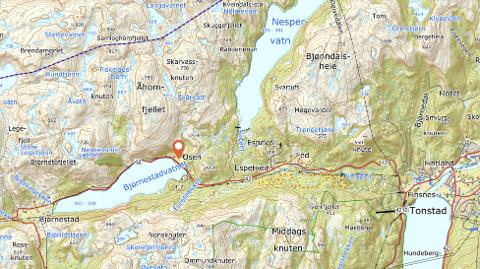 BÅTOPPTREKK VED OSEN: Grunneier Isak A. Liland ved Osen ber om at NVE pålegger Agder Energi å tilrettelegge og bygge et båtopptrekk i Osen for vannmagasinet Bjørnestadvatnet.