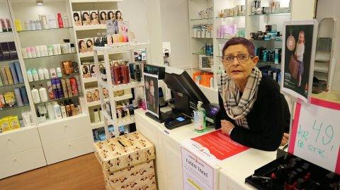 Eva Vaktskjold har no lagt ned butikken, og går inn i pensjonisttilværa.