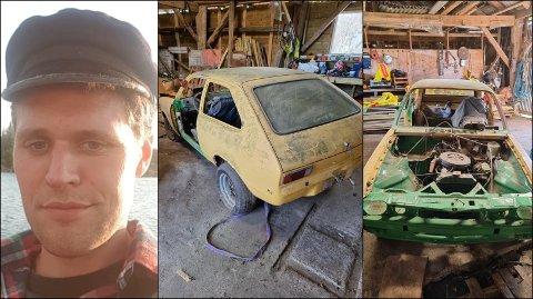 Då Torbjørn Leikvoll fekk sertifikatet, bestemte han seg for å heller kjøpe ein bil som fungerte. Det er likevel fleire som er interesserte i den gamle Opelen han kjøpte som 16-åring.