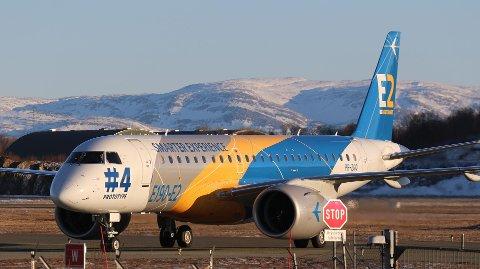 Forrige søndag landet Embraer E190-E2 prototype  i Bodø.