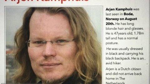 Arjen Kamphuis forsvant i august 2018.