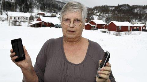 Fortviler: Ragna Olsen fortviler over omleggingen Telenor er i ferd med å foreta, og frykter konsekvensene. Foto: Øyvind A. Olsen