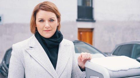 SKUFFET: Christina Bu, generalsekretær i Norsk elbilforening Foto: Norsk elbilforening/Aksel Jermstad