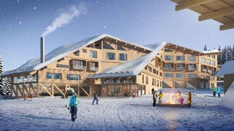 Slik kan det nye hotellet i Hemavan bli seende ut, hvis alt går etter planen til Balticgruppen.