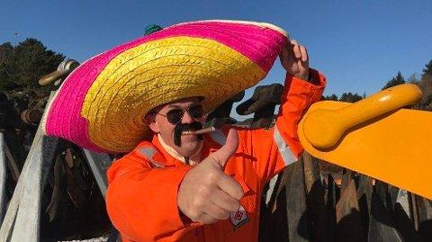 Da Jan Vindenes dro i land sin første avtale i Mexico, feiret Kjetting-Jan med sombrero og sigar. Foto: Nicolai Malmo/Sotra Anchor & Chain