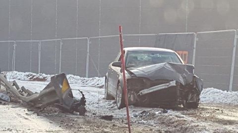Her endte kjøreturen for sjåføren, som politiet mener var beruset.