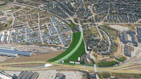 I Drammen skal det bygges dobbeltspor. Kontrakten som nå ble tildelt omfatter en 540 meter lang betongtunnel som går over i en 290 meter lang løsmassetunnel.