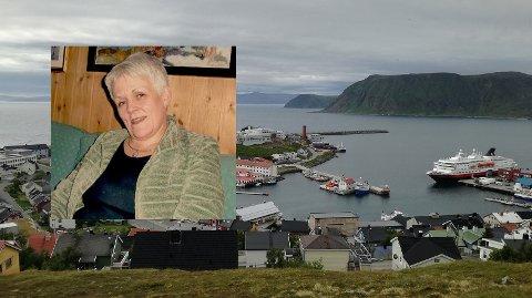 Marie Madelein Steen (innfelt) har vært i Honningsvåg. Torsdag ble hun arrestert i Hammerfest.