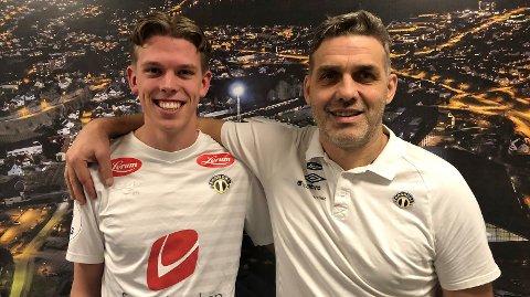 PÅ A-LAGET: Mathias Sundberg er no blitt A-lagsspelar for Sogndal. Han signerte tysdag ein kontrakt som strekkjer seg ut 2022-sesongen.