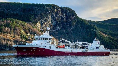 LEVERT: Brønnbåten «Reisa» er 84,8 meter og kan ha eit mannskap på 11.