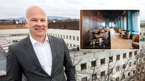 REISER MYE: Kringkastingssjef Thor Gjermund Eriksen reiser mye. I fjor bodde han på firestjerners-hotellet Azimut Smolenskaya (innfelt) under fotball VM i Russland.