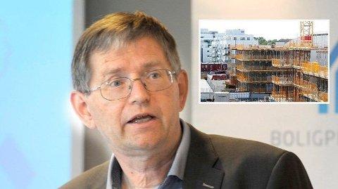 BEKYMRET: Per Jæger i Boligprodusentenes Forening er bekymret og og oppgitt .over boligpolitikken i Oslo. Det bygges for lite og prispresset kan ramme resten av landet.