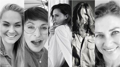 TAR UTFORDRINGEN: Marna Haugen, Lisa Tønne, Victoria Beckham, Jennifer Aniston og Märtha Louise er blant flere kjendiser som har kastet seg på utfordringen som herjer i sosiale medier. Foto: Instagram