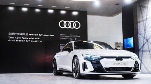 SETTER OPP TEMPOET: Audi setter opp tempoet på reisen mot nullutslipp, men med et forbehold.