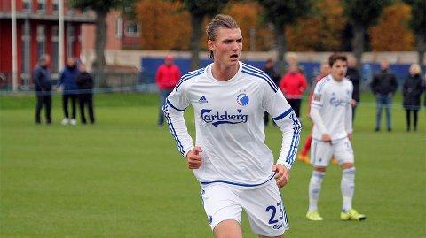 MÅL: Julian Kristoffersen scoret sitt første mål i Parken for FC København onsdag.