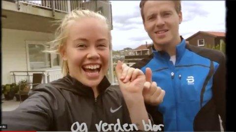 Ingvild Fjeldheim og Dag Erik Fjeldheim er blant de mange gjesdalbuene som bidrar i musikkvideoen til Gilberdals nye låt «I alle tider».