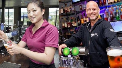 Medeier i restauranten Manis, Vina Manh, selger mest vin. Magnus Hamre ved Telegrafen selger mest øl.
