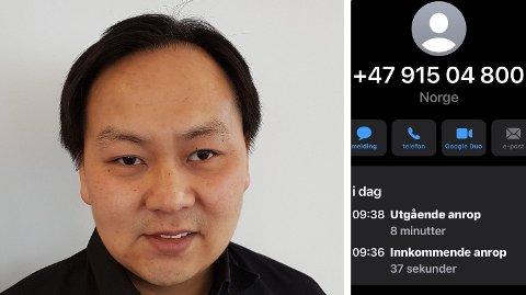 FORSØKT SVINDLET: Magnus Woo Kjesrud ble forsøkt svindlet av det som tilsynelatende var DNB.