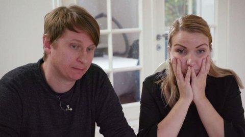 LUKSUSFELLEN: Økonom-teamet hjelper kjæresteparet Therese og Andreas Fjell ut av en vanskelig økonomisk krise. Foto: TV3