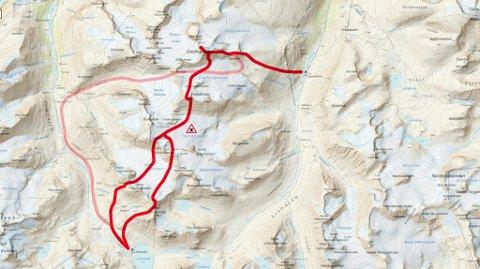 Etappen mellom Spiterstulen - Leirvassbu er en av de lengste etappene på Høgruta, og inneholder flere topper og breer.