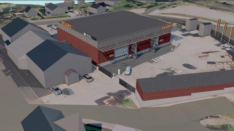 Slik ser planene ut for oppgraderingen av Bygger'n Fåvang, med et lagerareal på 1625 m2.