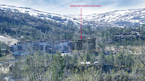 Slik er dei planlagte leilegheitsbygga tenkt. Illustrasjon: Arkitekt Erik Asbjørnsen