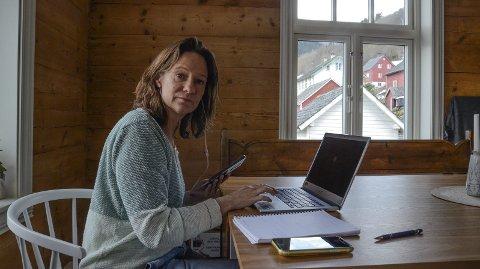 Hjemmekontor: Kommuneoverlege Daniela Brühl har hatt lange og travle dager de siste ukene.  Foto: Mette Bleken