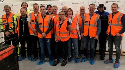 De ansatte på laksefabrikken til Marine Harvest i Herøy har jobbet i åtte år i produksjonen, eller to millioner timer, uten at det har oppstått fraværsskader.