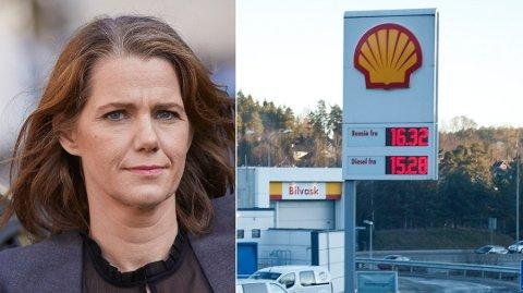 KRAFTIG PRISØKNING: Regjeringens klimamelding vil øke bensinprisen til 19,28 kroner per liter. – Usosialt, mener NAF.