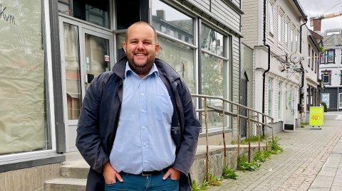 Gard Borch Michalsen vil at lokaler som denne blir fylt av liv i Harstad.