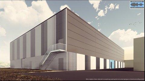 UTENDØRS: Slik er fasaden på den nye hallen tenkt å se ut.