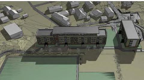 POSITIV: Når politikarane i lokal utvikling møtest i neste veke, ber rådmannen dei om å godkjenna planane for nye Bryne Stadion. Tre bustadblokker er ein viktig del av finansieringa av ny stadion.