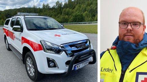 INVESTERING: Korpsleder Jørn Herfoss Kristensen beskriver kjøpet som en stor investering. Den nye beredskapsbilen er en Isuzu D-Max.
