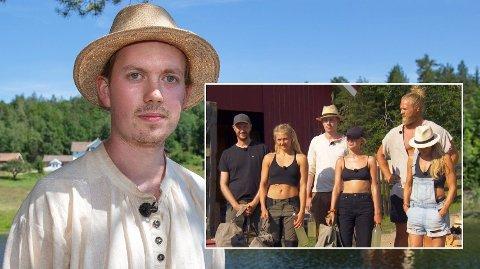 UTE: Øde Nerdrum røk ut av Farmen sammen med Kine Olsen og Anniken Jørgensen. Overfor Nettavisen røper han at han gjorde en stor tabbe dagen før. Foto: TV 2