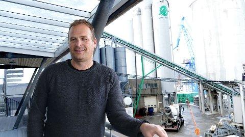 STORE FORVENTNINGER: Svein Atle Berge, daglig leder i Ølen Betong sitt eierselskap, Nordic Concrete Group.