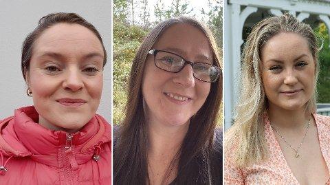 Sigrid Hallanger (43), Gro Heidi Åsen (41) og Inga Øygard Jaastad (26) er tilsett i faste journaliststillingar i Hardanger Folkeblad.