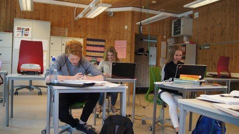 Eksamensstress: Elevene ved Tislegård ungdomsskole mener eksamen bare er noe vi må takle.
