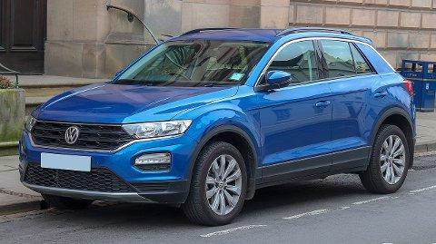 ILLUSTRASJONSFOTO: Politiet lette etter en blå Volkswagen T-roc - og fant den.