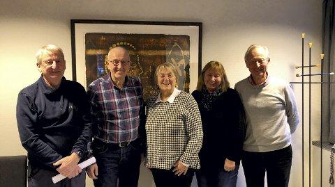 Det nyvalgte Eldrerådet: Fra venstre: Per Vemork, Jan Dybvik, Lorna Reberg Nilsen, Mona Skaar Thorsrud og Sjur Malm.